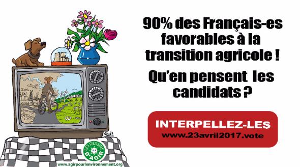 90% des Français pour la transition agricole !  Qu'en pensent  les  candidats ?